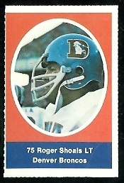 Roger Shoals 1972 Sunoco Stamps football card