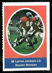 Larron Jackson 1972 Sunoco Stamps football card