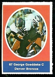 George Goeddeke 1972 Sunoco Stamps football card