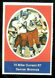 Mike Current 1972 Sunoco Stamps football card
