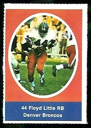 Floyd Little 1972 Sunoco Stamps football card