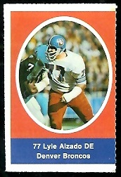Lyle Alzado 1972 Sunoco Stamps football card
