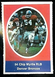 Chip Myrtle 1972 Sunoco Stamps football card