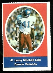 Leroy Mitchell 1972 Sunoco Stamps football card