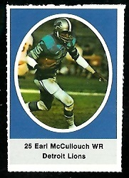 Earl McCullouch 1972 Sunoco Stamps football card