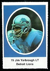 Jim Yarbrough 1972 Sunoco Stamps football card