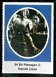 Ed Flanagan 1972 Sunoco Stamps football card
