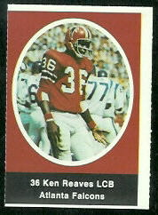 Ken Reaves 1972 Sunoco Stamps football card