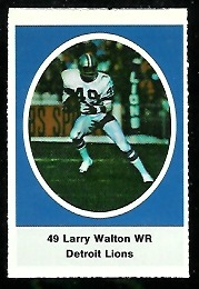 Larry Walton 1972 Sunoco Stamps football card