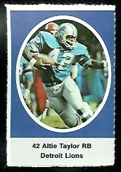 Altie Taylor 1972 Sunoco Stamps football card