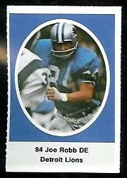 Joe Robb 1972 Sunoco Stamps football card