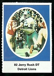 Jerry Rush 1972 Sunoco Stamps football card