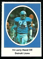 Larry Hand 1972 Sunoco Stamps football card