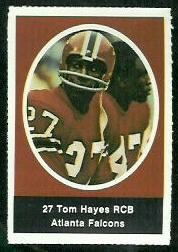 Tom Hayes 1972 Sunoco Stamps football card