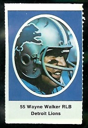 Wayne Walker 1972 Sunoco Stamps football card