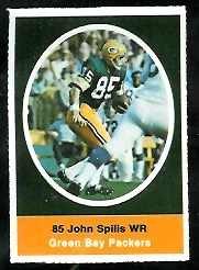 John Spilis 1972 Sunoco Stamps football card