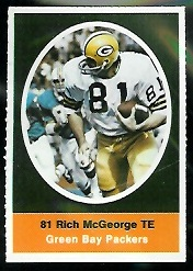Rich McGeorge 1972 Sunoco Stamps football card