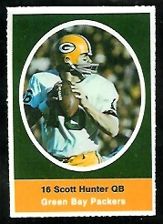 Scott Hunter 1972 Sunoco Stamps football card