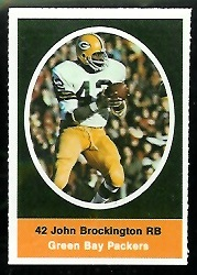 John Brockington 1972 Sunoco Stamps football card