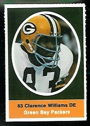 Clarence Williams 1972 Sunoco Stamps football card