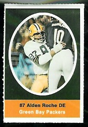 Alden Roche 1972 Sunoco Stamps football card