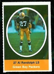 Al Randolph 1972 Sunoco Stamps football card