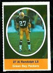 Al Randolph 1972 Sunoco Stamps football card