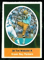 Tim Webster 1972 Sunoco Stamps football card