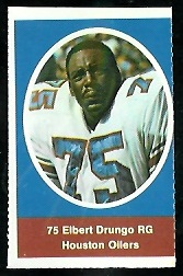 Elbert Drungo 1972 Sunoco Stamps football card