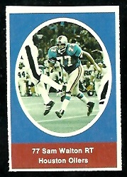 Sam Walton 1972 Sunoco Stamps football card