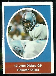 Lynn Dickey 1972 Sunoco Stamps football card