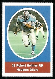 Robert Holmes 1972 Sunoco Stamps football card