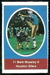 Mark Moseley 1972 Sunoco Stamps football card