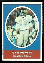Leo Brooks 1972 Sunoco Stamps football card