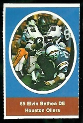 Elvin Bethea 1972 Sunoco Stamps football card