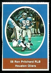 Ron Pritchard 1972 Sunoco Stamps football card