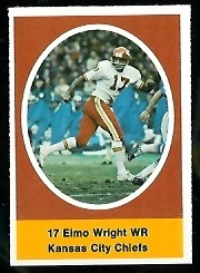 Elmo Wright 1972 Sunoco Stamps football card