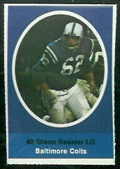 Glenn Ressler 1972 Sunoco Stamps football card