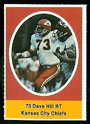 Dave Hill 1972 Sunoco Stamps football card