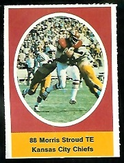 Morris Stroud 1972 Sunoco Stamps football card