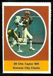 Otis Taylor 1972 Sunoco Stamps football card