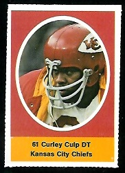 Curley Culp 1972 Sunoco Stamps football card