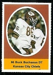 1972 Sunoco Stamps Buck Buchanan