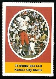 Bobby Bell 1972 Sunoco Stamps football card