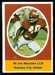 Jim Marsalis 1972 Sunoco Stamps football card