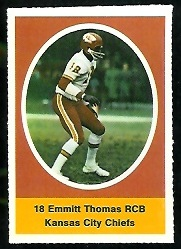Emmitt Thomas 1972 Sunoco Stamps football card