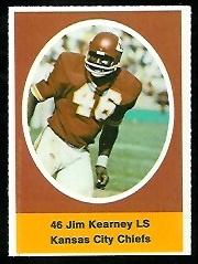 Jim Kearney 1972 Sunoco Stamps football card