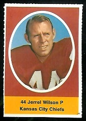 Jerrel Wilson 1972 Sunoco Stamps football card