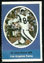 Jack Snow 1972 Sunoco Stamps football card