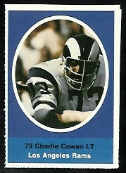 Charlie Cowan 1972 Sunoco Stamps football card